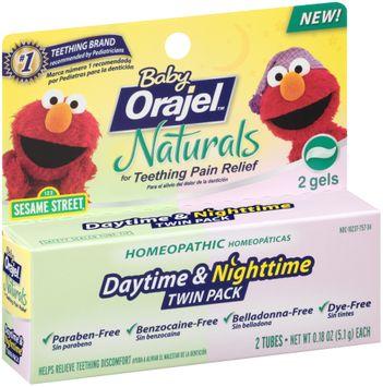 Baby Orajel™ Naturals Daytime & Nighttime Twin Pack Teething Relief Gel