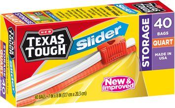 H-E-B Texas Tough® Quart Slider Storage Bags