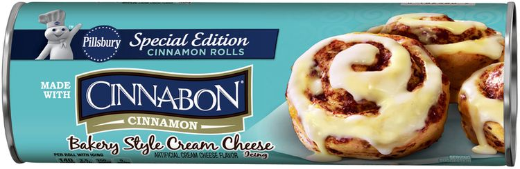 Pillsbury Cinnamon Rolls with Bakery Style Cream Cheese Icing 8 ct Can