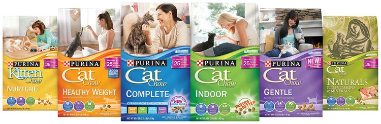 Purina Cat Chow Product LineUP s