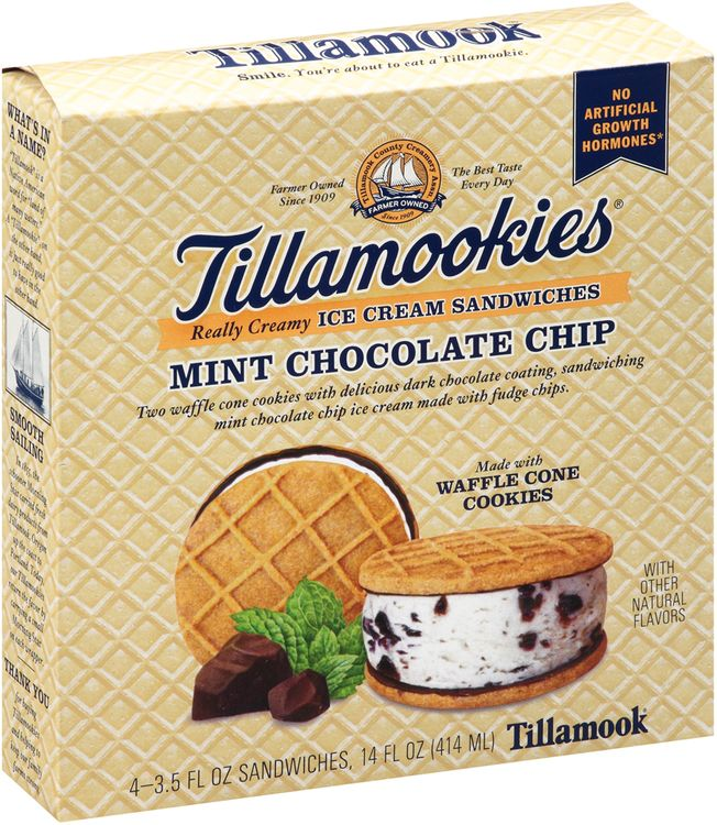 Tillamook® Tillamookies® Mint Chocolate Chip Really Creamy Ice Cream Sandwiches