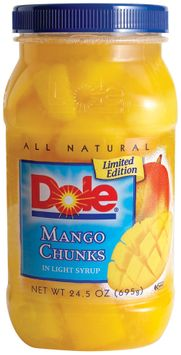 Dole All Natural Mango Chunks in Light Syrup