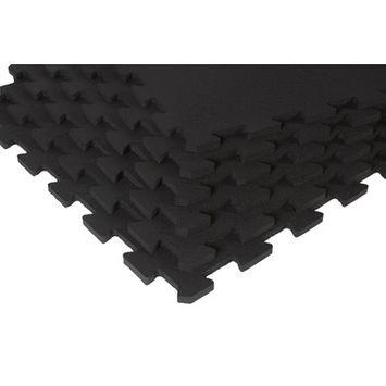 SuperMats SuperLock Black Interlocking Floor Mat