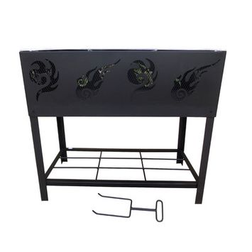 Overstock BBQ Fire Pit and Log Rack
