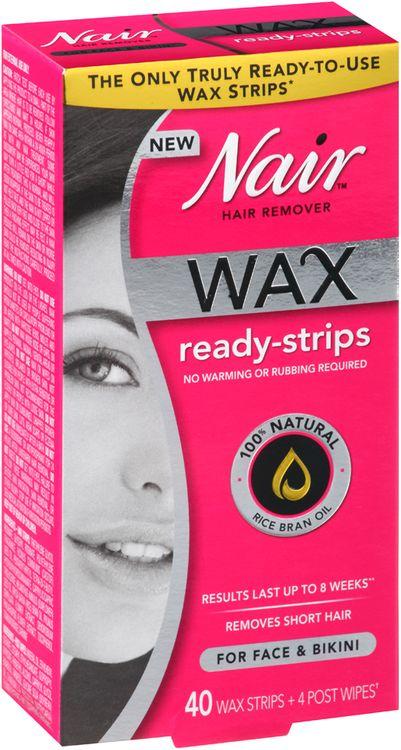 Nair™ Wax Ready-Strips Hair Remover for Face & Bikini