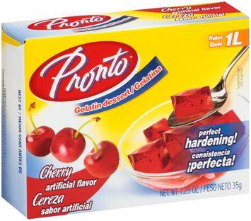 Pronto™ Cherry Water Based Gelatin Dessert