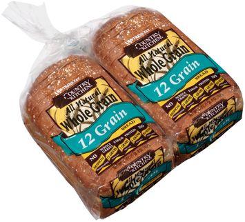 country kitchen® all natural whole grain 12 grain bread