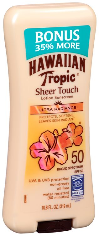 Hawaiian Tropic® Sheer Touch Ultra Radiance Broad Spectrum SPF 50 Lotion Sunscreen