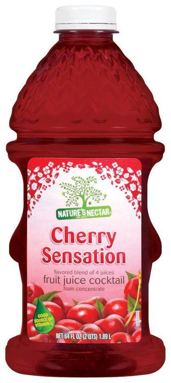 Nature's Nectar Cherry Sensation Flavored Blend of 4 Juices Fruit Juice Cocktail