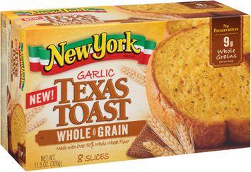 New York® Garlic Whole Grain Texas Toast 8 ct Box
