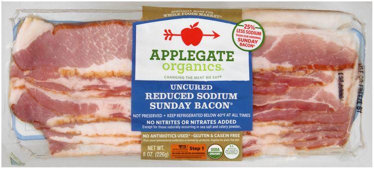 Applegate Organics® Uncured Reduced Sodium Sunday Bacon®