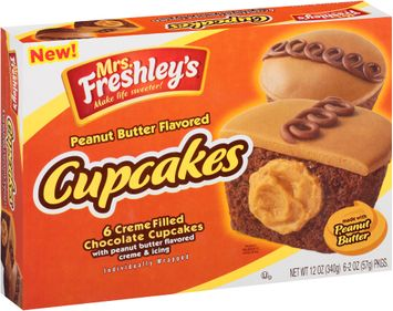 mrs Freshly's® Peanut Butter Flavored Cupcakes