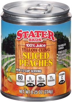 Stater bros® Yellow Cling Sliced Peaches