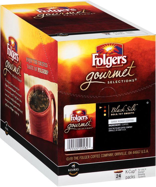 Folgers Gourmet Selections® Black Silk Dark Roast Coffee 24 K-Cup® Packs