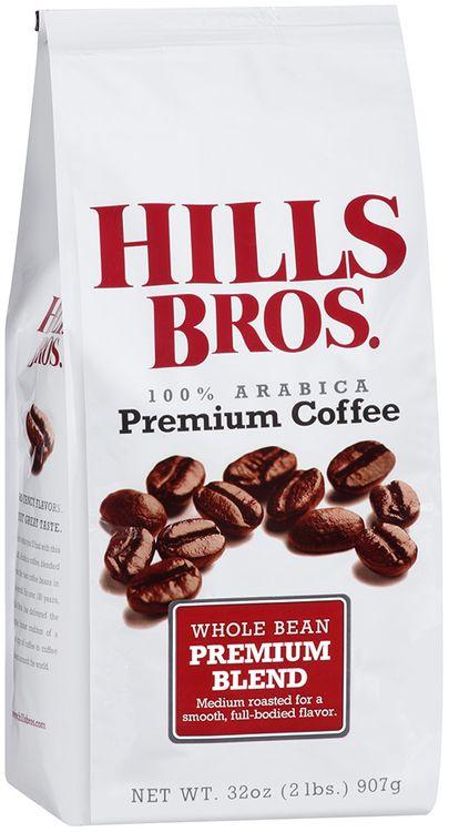 hills bros 100% arabica premium blend whole bean premium coffee