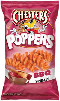 chester's® bbq flavored spirals poppers