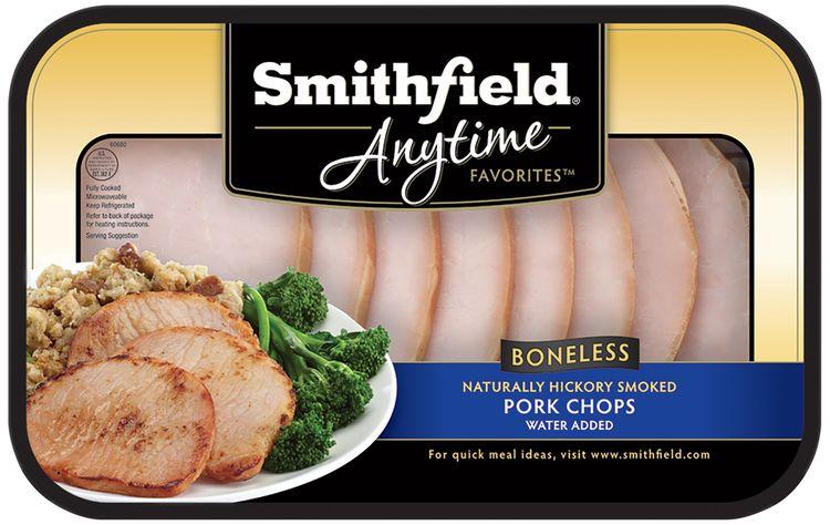 Smithfield® Anytime Favorites™ Boneless Hickory Smoked Pork Chops Tray