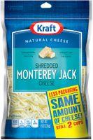 Kraft Natural Cheese Monterey Jack Shredded Cheese
