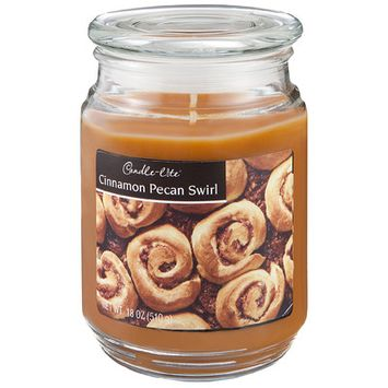 Candle lite 3.5 Oz Cinnamon Pecan Scented Jar Candle