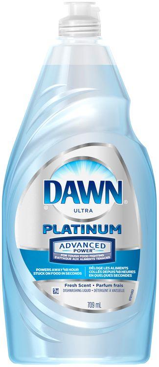 Dawn® Platinum Advanced Power™ Dishwashing Liquid Refreshing Rain™ 709 Ml