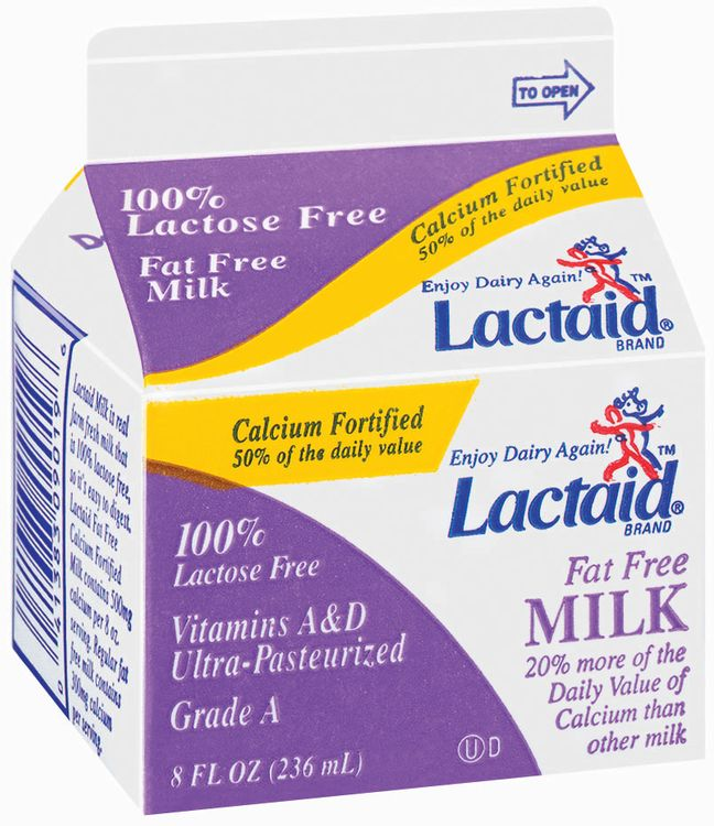 Lactaid 100% Lactose Free Fat Free Calcium Fortified