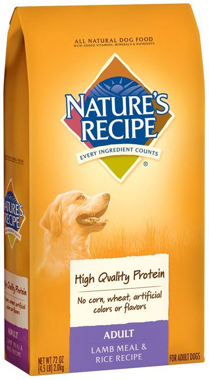 nature's recipe® adult lamb meal & rice recipe dog food