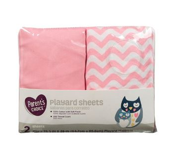 Parents Choice™ Playard Sheet Pink