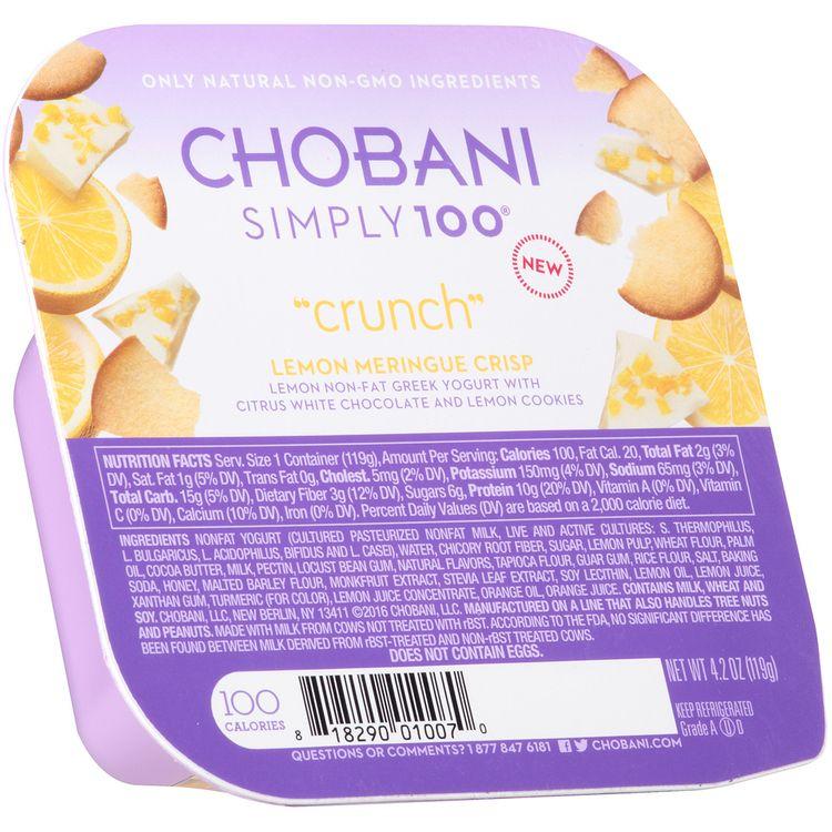 "Chobani® Simply 100® ""Crunch"" Lemon Meringue Crisp Non-Fat Greek Yogurt"