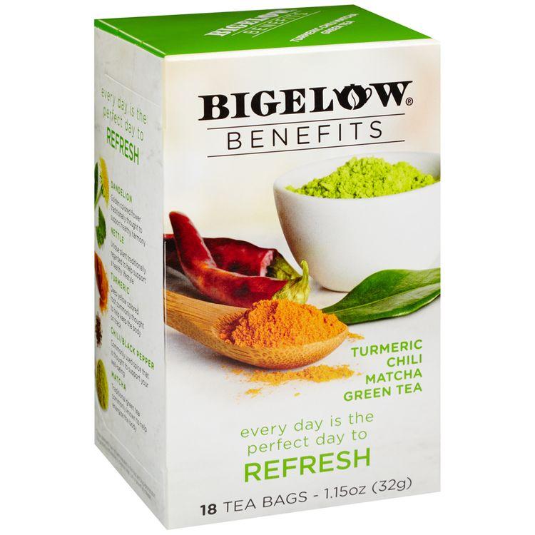Bigelow® Benefits Turmeric Chili Matcha Green Tea Bags 18 ct Box
