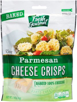 fresh gourmet® baked parmesan cheese crisps