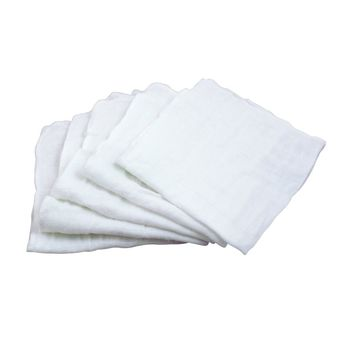 Green Sprouts Muslin Face Cloths made from Organic Cotton (5 pack)