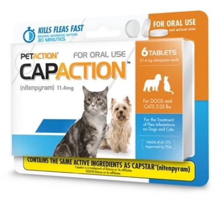 PETACTION® CAPACTION™ Insect Treatment Tablets for Cat