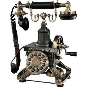 Design Toscano The Eiffel Tower Telephone in Antique Bronze