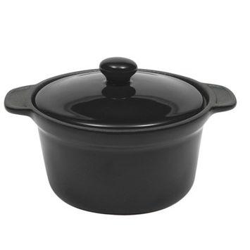 Maxwell & Williams Microstoven 10.5-oz Round Mini Casserole Color: Black