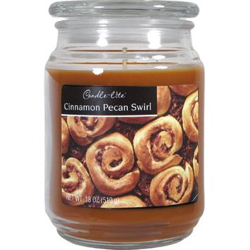 Candle lite 18 Oz Cinnamon & Pecan Scented Terrace Jar Candle