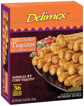Delimex White Meat Chicken 36 Ct Taquitos
