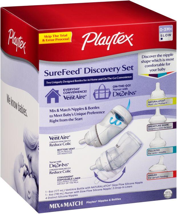 Playtex® SureFeed™ Discovery Set Nipples & Bottles Box