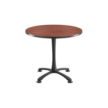 Safco(R) Cha-Cha X-Base Sitting-Height Table, Gray/Black
