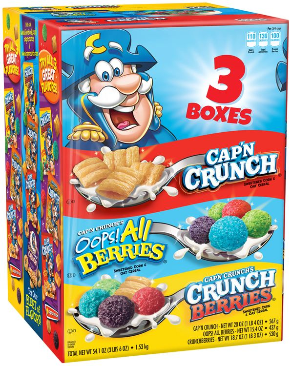 Cap'n Crunch® Variety Pack 3 ct Pack
