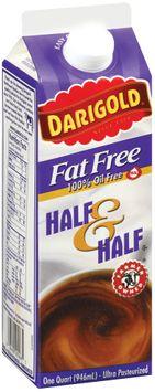 Darigold Fat Free  Half & Half  1 Qt Carton