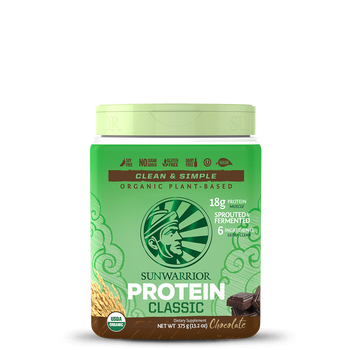 Sunwarrior Classic Plus Sprouted & Fermented Plant-Based Protein Powder - Chocolate