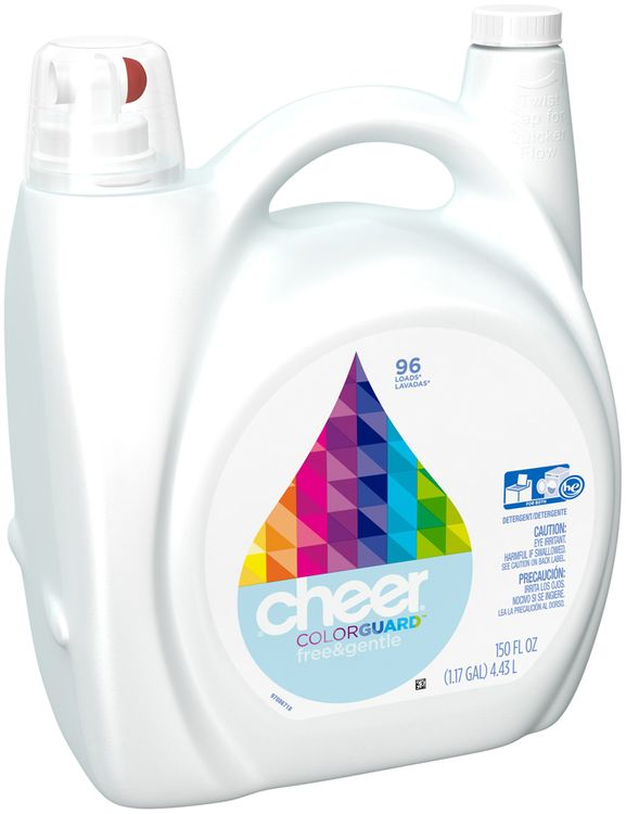 Cheer Free Liquid Laundry Detergent 96 load