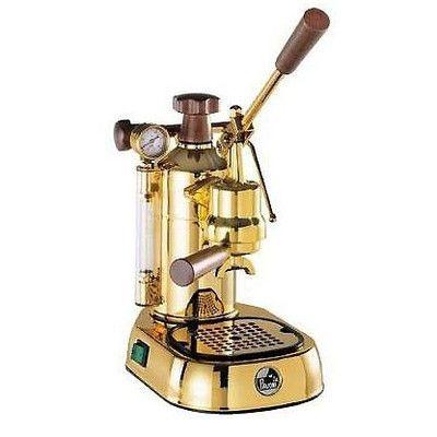 European Gift PPG16 La Pavoni Professional Gold Plated Espresso Machine