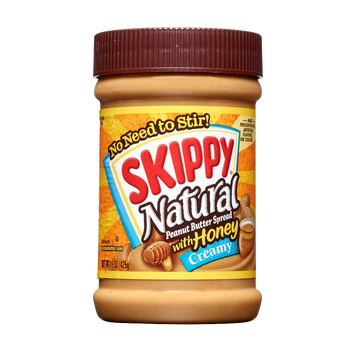 Skippy Natural Creamy Peanut Butter with Honey (425g)