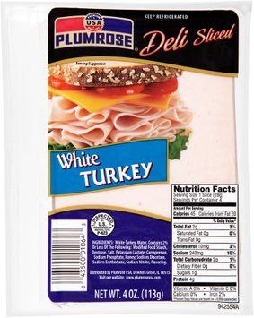 Plumrose® Deli Sliced White Turkey