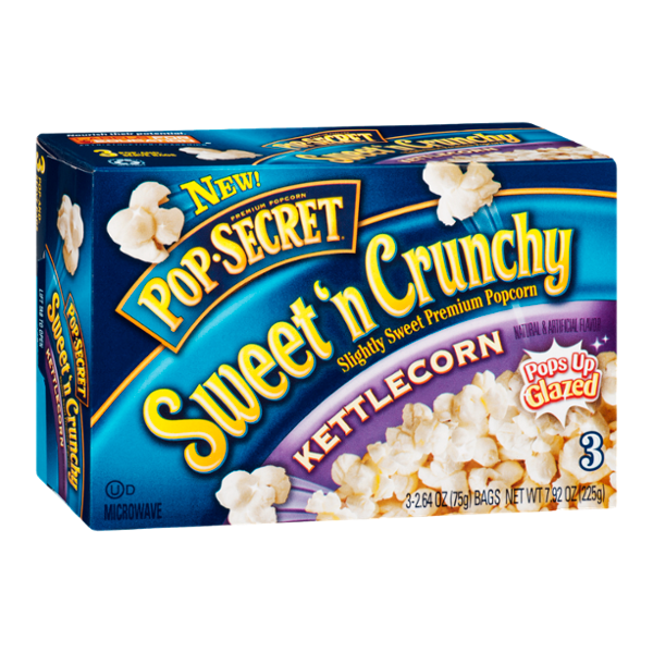 Pop Secret Sweet 'N Crunchy Popcorn Kettlecorn - 3 CT