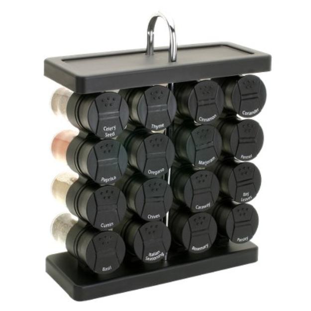 Slide: Olde Thompson 16-Jar Spice Rack - Wine