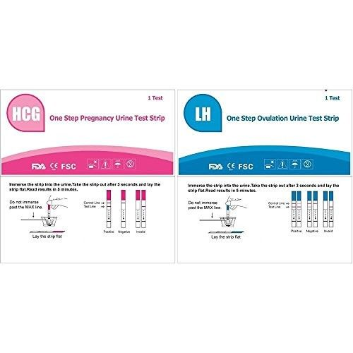 AccuMed® Combo 50 Ovulation (LH) & 20 Pregnancy (HCG) Test Strips