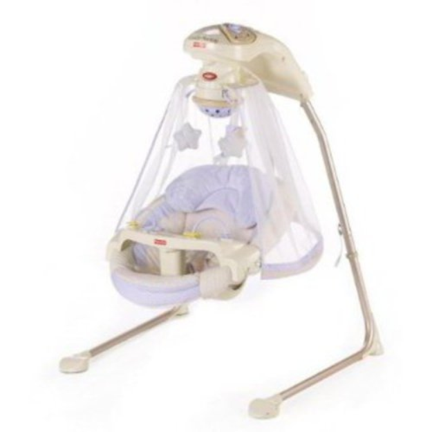 Fisher-Price - Starlight Papasan Cradle Swing, Periwinkle