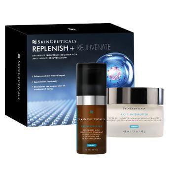 Skin Ceuticals Replenish + Rejuvenate Set: A.G.E. Interrupter 48ml/1.7oz + Resveratrol B E 15ml/0.5oz 2pcs